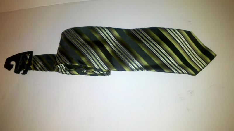 Laurant Bennet Milano Green Stripe men's necktie