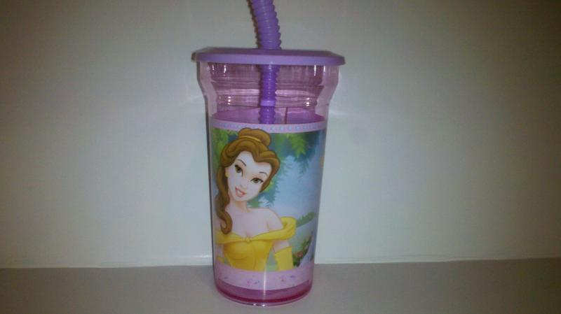 Disney princess juice cup with sippy straw