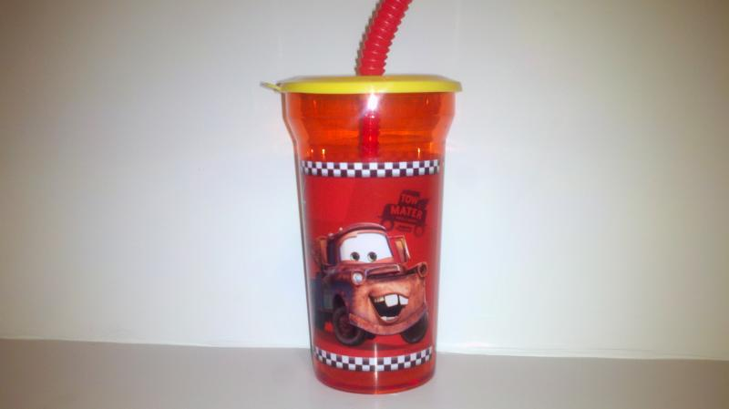 Disney cars, juice cup with sippy straw