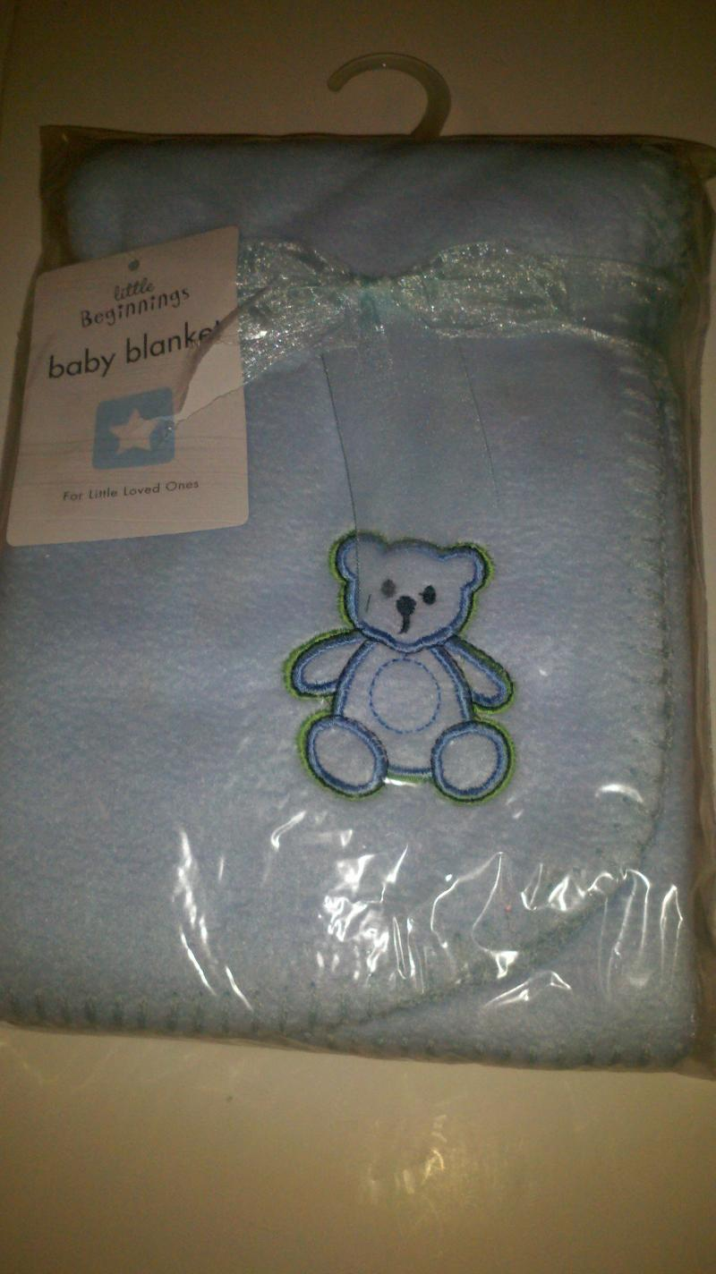 Blue Teddy bear Blacket