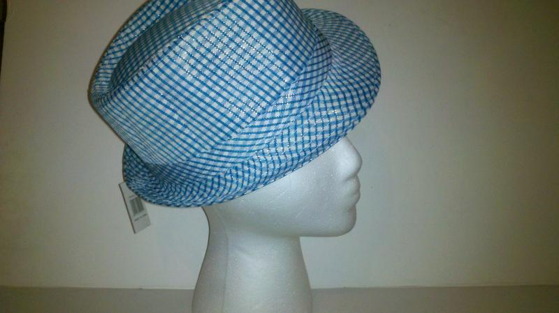 Girl's  Blue dress hat; ages 9-12