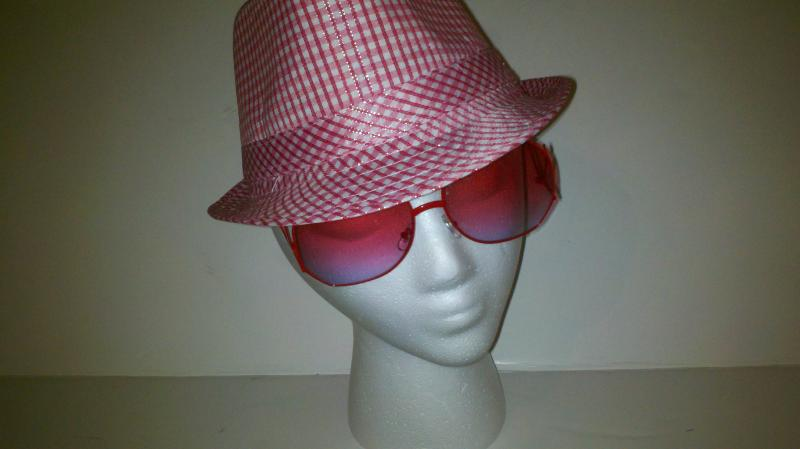 Girls Pink dress hat : sunglasses not included