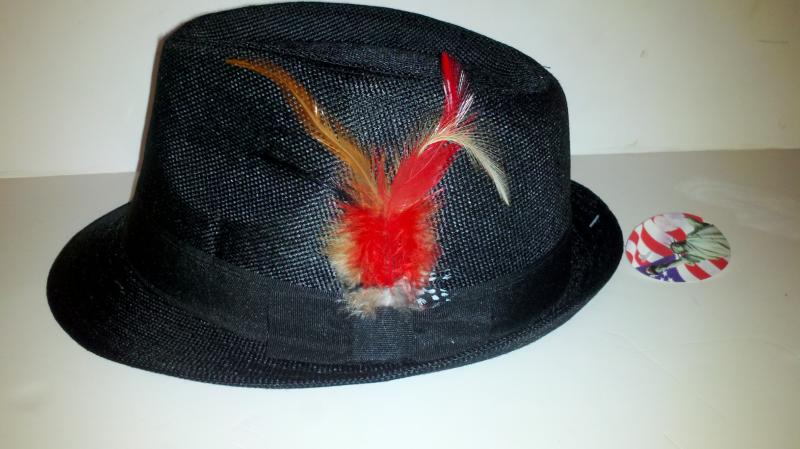 Men's Black dress hat
