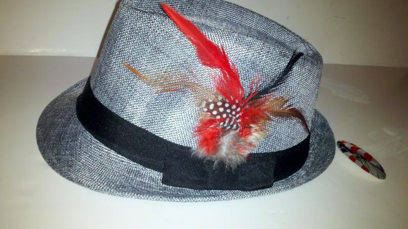 Grey men's dress hat
