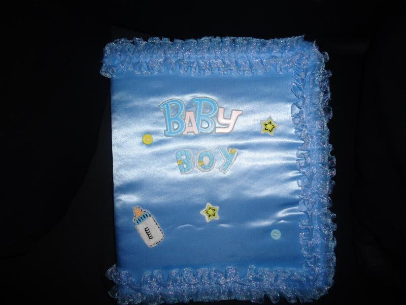 Blue baby photo album